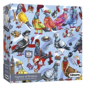 Gibsons Pigeons of Britain 1000 piece jigsaw