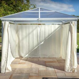 Hartman Square Gazebo with Roof in White (3m)