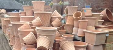 Pots - Terracotta Weave1 - cropped wide