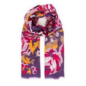 Powder Autumn Roses Print Scarf
