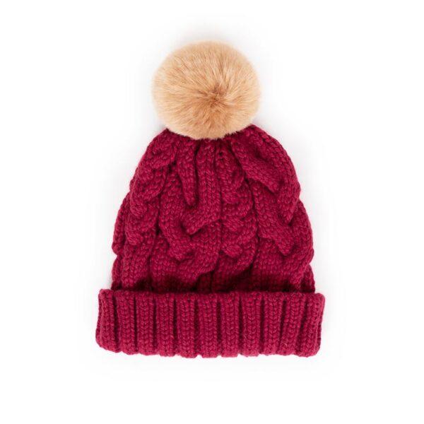 Powder Charlotte Hat in Raspberry