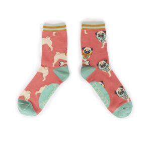 Powder Cosy Pug Ankle Socks