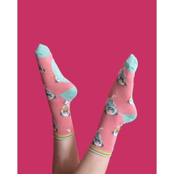 Powder Cosy Pug Ankle Socks Lifestyle