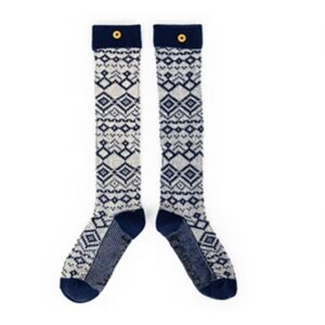 Powder Fair Isle Knee High Socks in Navy