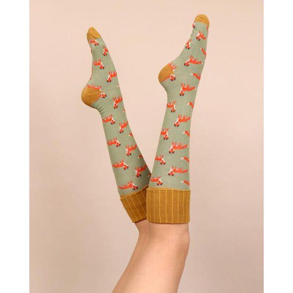 Powder Fox Boot Socks Lifestyle