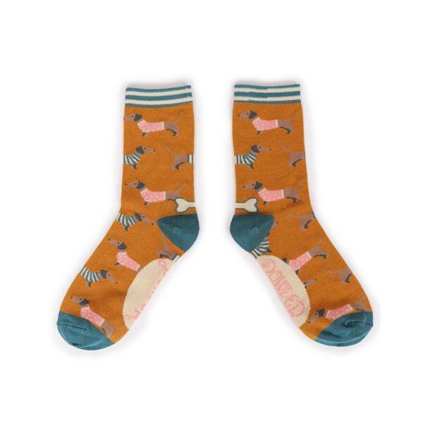 Powder Jumper Sausage Dog Ankle Socks