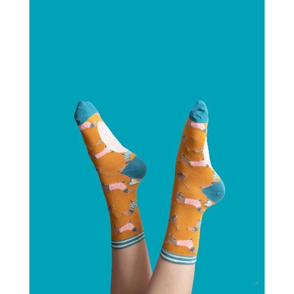 Powder Jumper Sausage Dog Ankle Socks Lifestyle