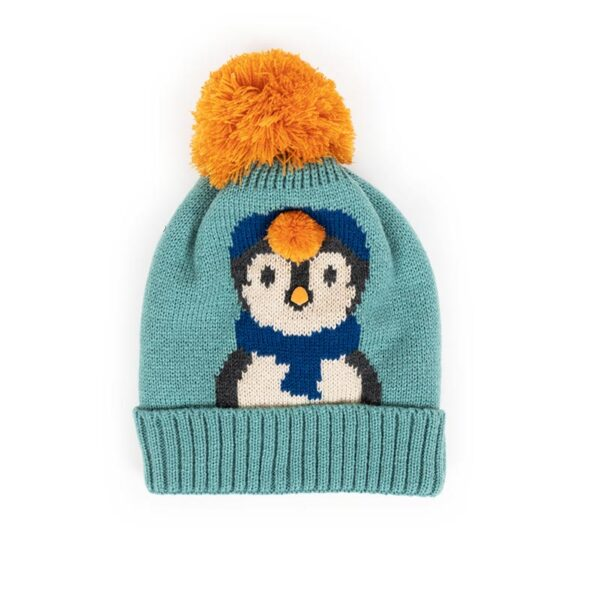 Powder Kid's Cosy Penguin Hat in Ice