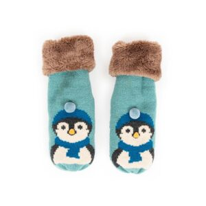 Powder Ladies Cosy Penguin Mittens in Ice