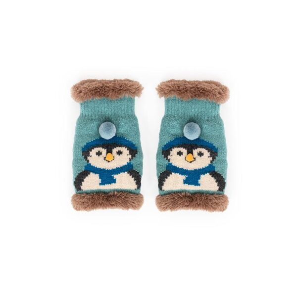 Ladies Cosy Penguin Wrist Warmer in Ice