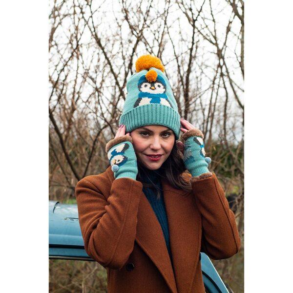 Powder Ladies Cosy Penguin Wrist Warmer in Ice Lifestyle