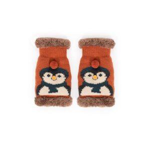 Powder Ladies Cosy Penguin Wrist Warmer in Tangerine