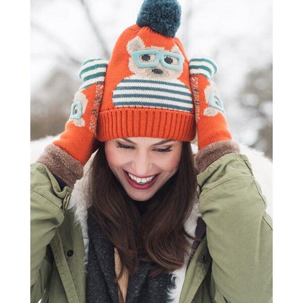 Powder Ladies Cosy Teddy Hat-Tangerine Lifestyle
