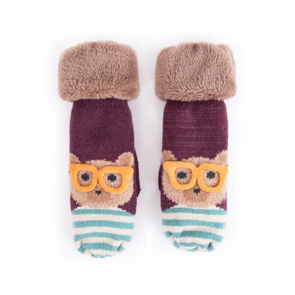 Powder Ladies Cosy Teddy Mittens-Damson