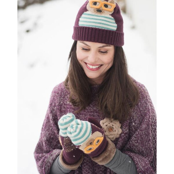 Powder Ladies Cosy Teddy Mittens-Damson Lifestyle
