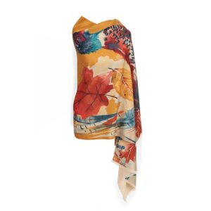 Powder Luxurious Watercolour Pheasant Print Scarf