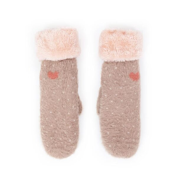Powder Polly Cosy Mittens in Stone