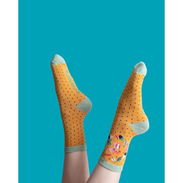 Powder Autumn Squirrel-Ankle Socks Lifestyle