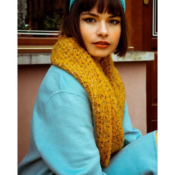Powder Sandie Scarf in Mustard Lifestyle