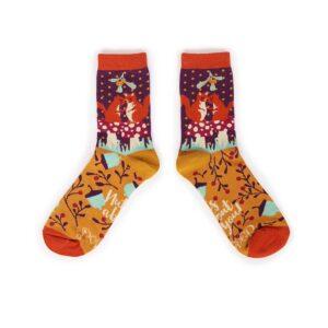 Powder Snogging Squirrels Ankle Socks