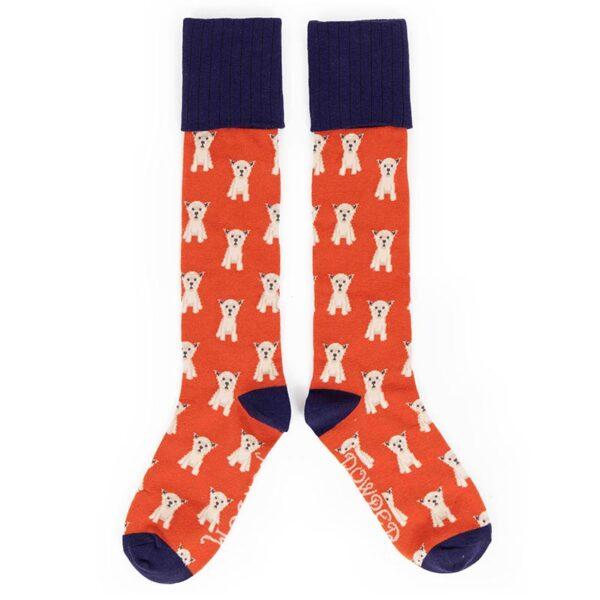 Powder Westie Boot Socks