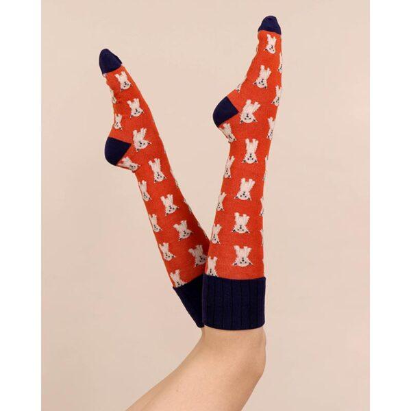 Powder Westie Boot Socks Lifestyle