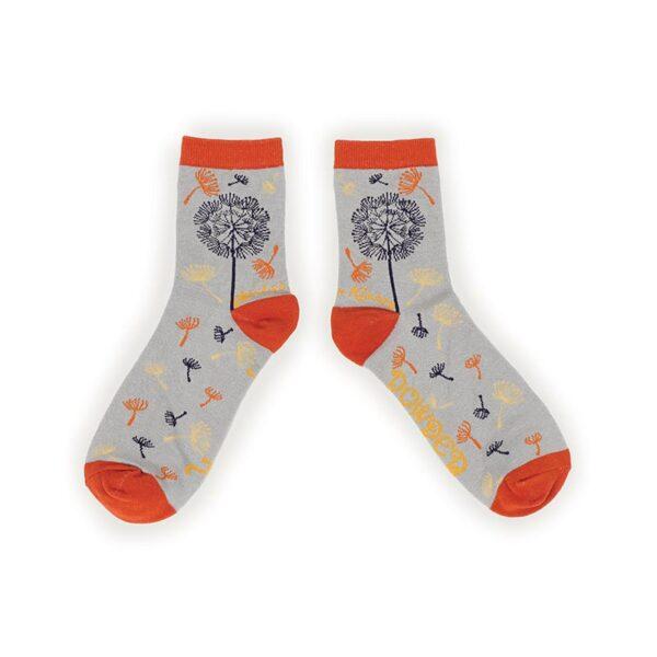 Powder Wishes & Kisses Ankle Socks-Slate