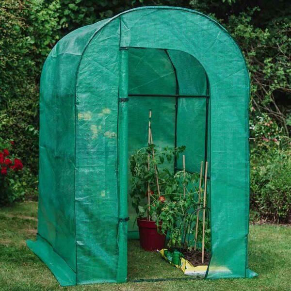 Premium Walk-In Growhouse 1 Shelf in garden