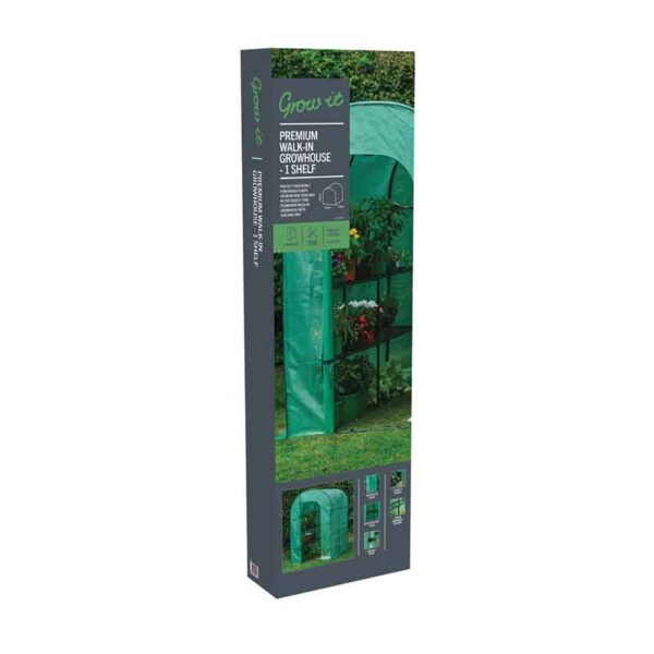 Premium Walk-In Growhouse 1 Shelf pack