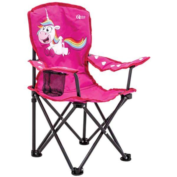 Quest Childrens Unicorn Fun Folding Chair