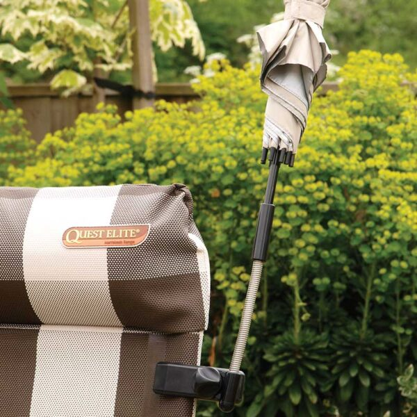 Quest Universal Clamp-On Sun Shade in use