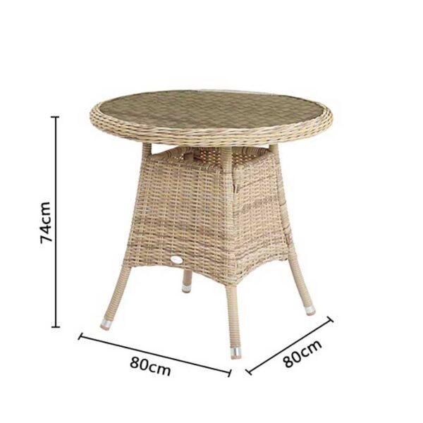 Bramblecrest Ascot Bistro Table Dimensions