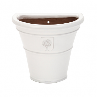 RHS Classic White Cone Wall Pot