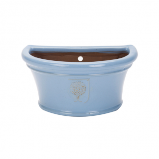 RHS Classic Sky Blue Bowl Wall Pot