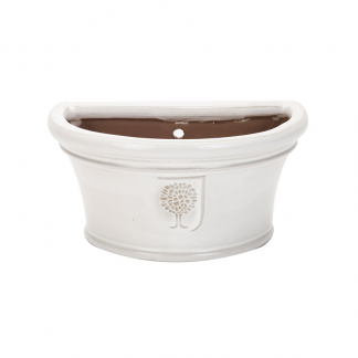 RHS Classic White Bowl Wall Pot (Medium)