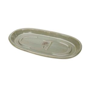 RHS Classic Antique Grey Oval Saucer
