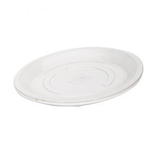RHS Classic White Round Saucer