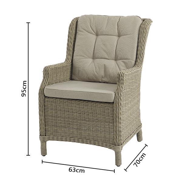Bramblecret Oakridge High Back Armchair DImensions
