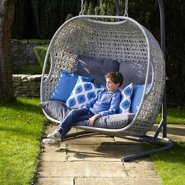 Bramblecrest Monterey Double Hanging Cocoon Hanging Chair For Sale
