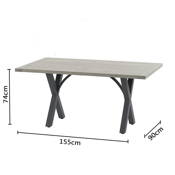 Bramblecrest Table RMTR6C Dimensions