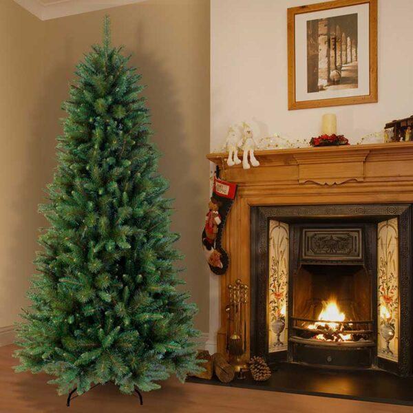 National Tree Rocky Ridge Slim Pine Artificial Christmas Tree