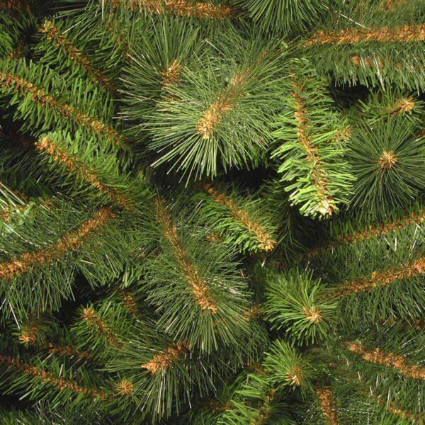 National Tree Rocky Ridge Slim Pine Artificial Christmas Tree Close Up