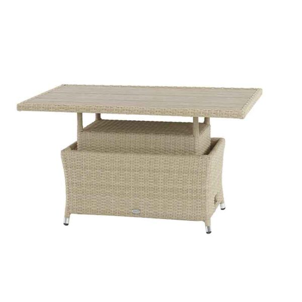 Rectangular Adjustable Casual Dining Table in Nutmeg with Tree-Free Top