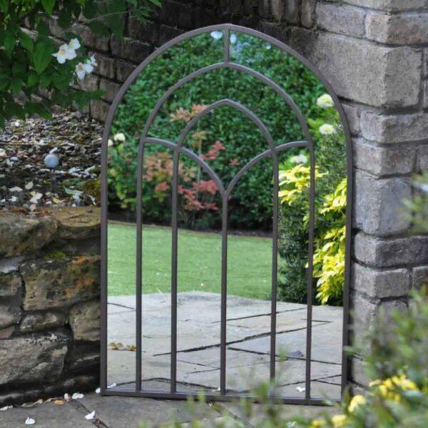 Regal Metal Outdoor Garden Mirror