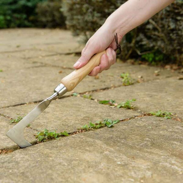 Remove weeds with the Kent & Stowe Stainless Steel Hand Weeding Knife
