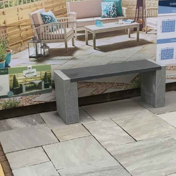 Roma Bench on Natural Sandstone Patio in Lakefell