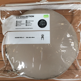 Glencrest CC Collection Taupe Bistro Round Pad (Pack of 2)