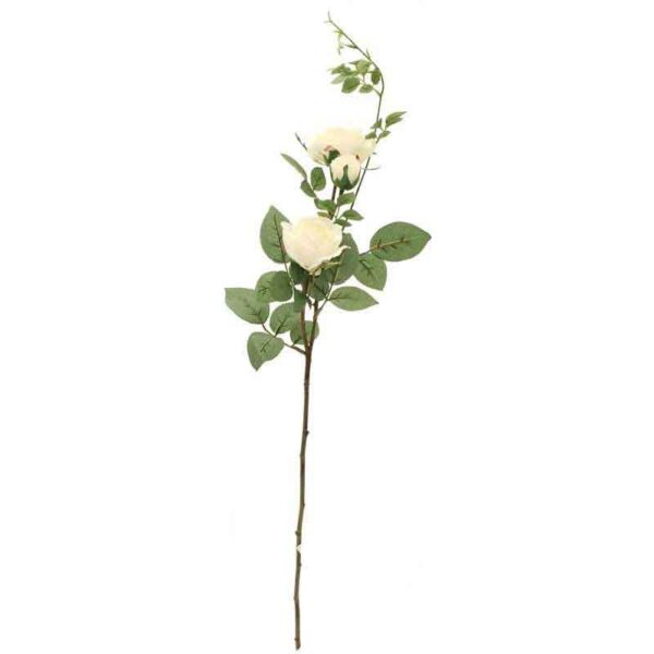 Hamilton White Rose Spray Stem – 2 Heads (79cm)