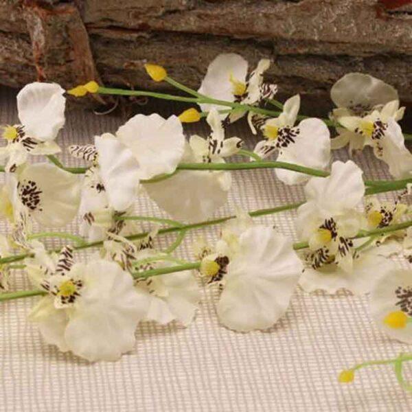 White Dancing Orchid Stem (88cm)