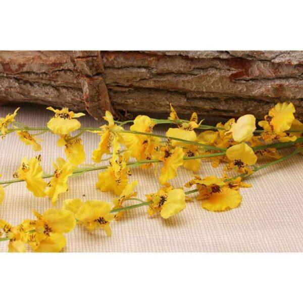 Yellow Dancing Orchid Stem (88cm)